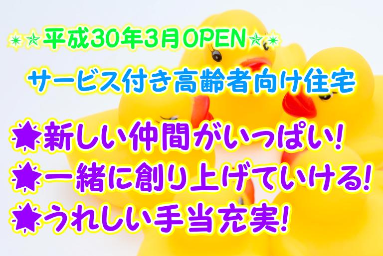 【松原市】介護スタッフ(正社員)平成30年3月オープンのサービス付き高齢者向け住宅♪ここから創り上げていきましょう★s-om-h2-kyo イメージ